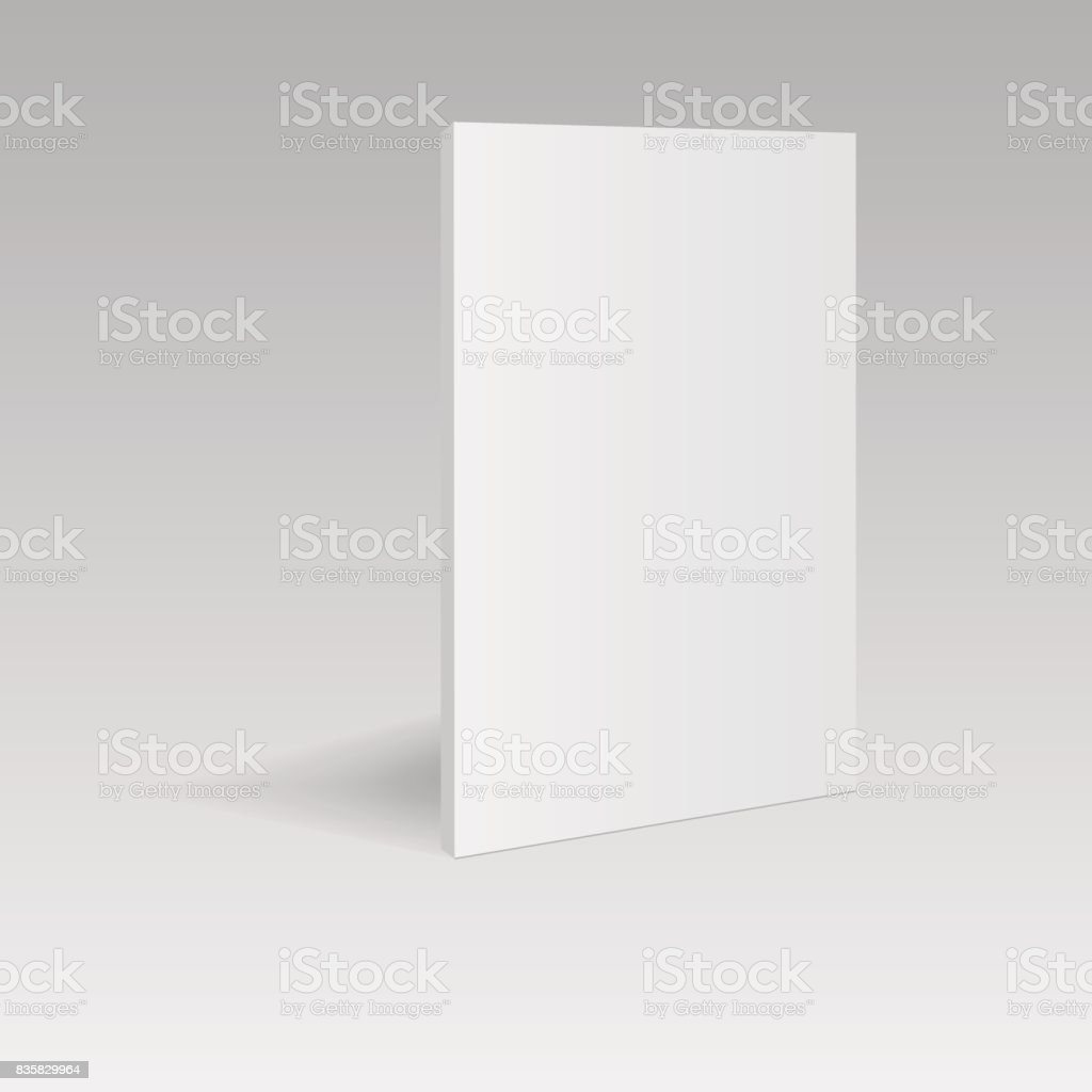 blank vertical book template in perspective view vector illustration