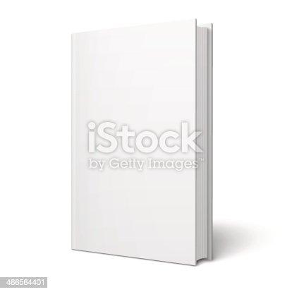 istock Blank vertical book template. 466564401