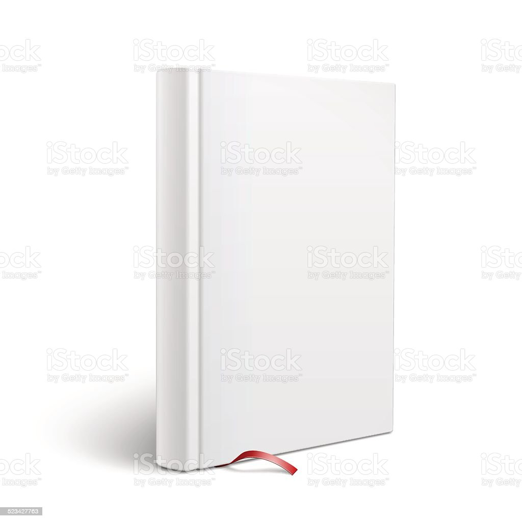 blank vertical book with bookmark template stock vector art more