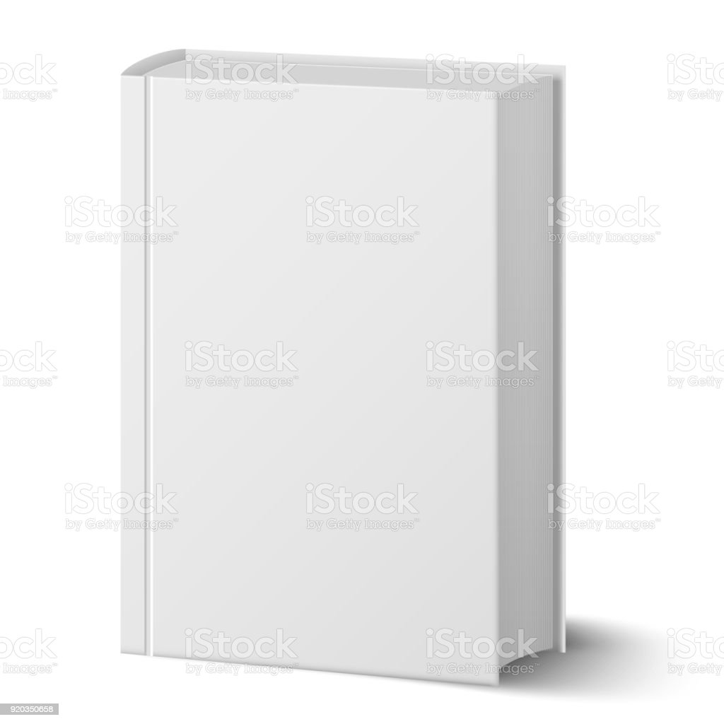 Blank Vertical Book With Hard Cover Template Standing Closeup ...