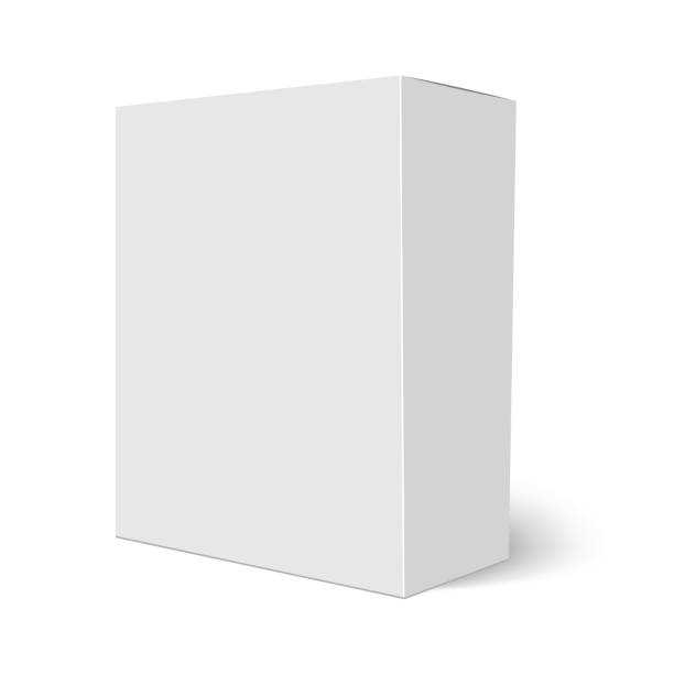 ilustrações de stock, clip art, desenhos animados e ícones de blank vertical paper box template standing on white background. vector illustration - cereal