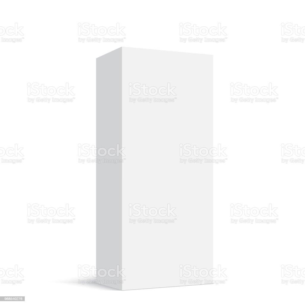 Caixa de papel em branco vertical. Ilustração vetorial - ilustração de arte em vetor