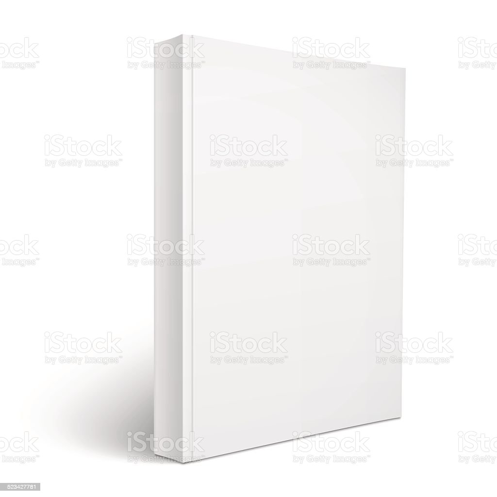 Blank vertical softcover book template. vector art illustration
