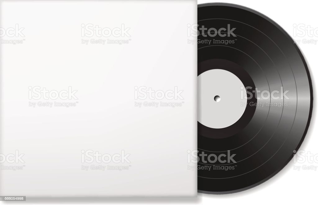 Blank vinyl disc vector art illustration