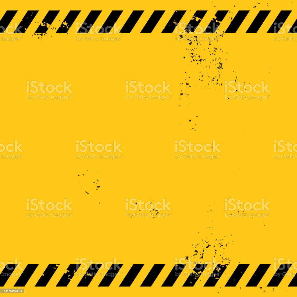 leere Warnung banner – Vektorgrafik