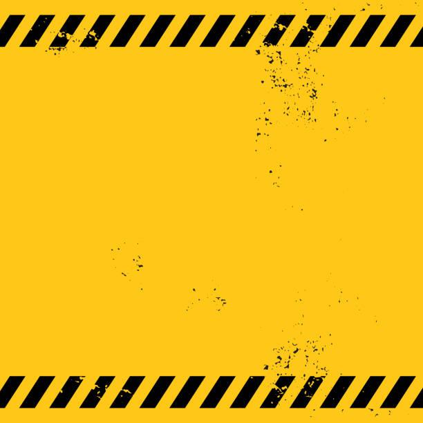 illustrations, cliparts, dessins animés et icônes de bannière d'avertissement blanc - chantier
