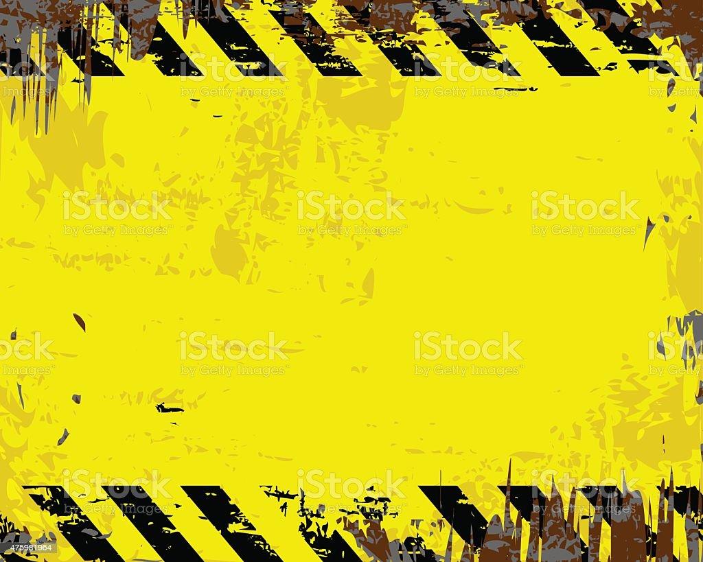 Blank Warning Sign vector art illustration