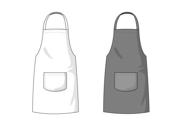 Blank white and black Apron template. Blank white and black Apron template. apron stock illustrations