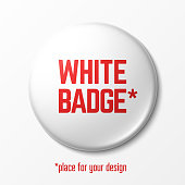 Blank white badge