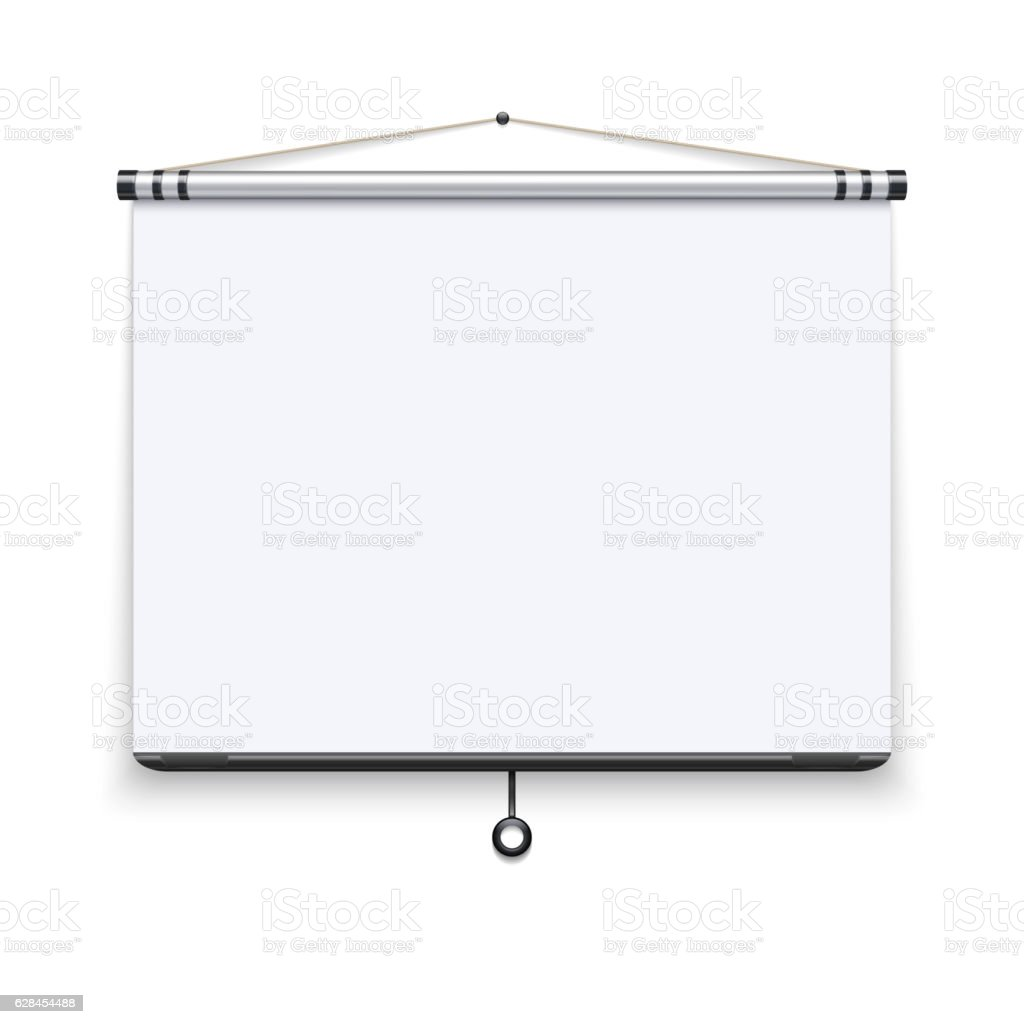 blank white board meeting projector screen presentation display
