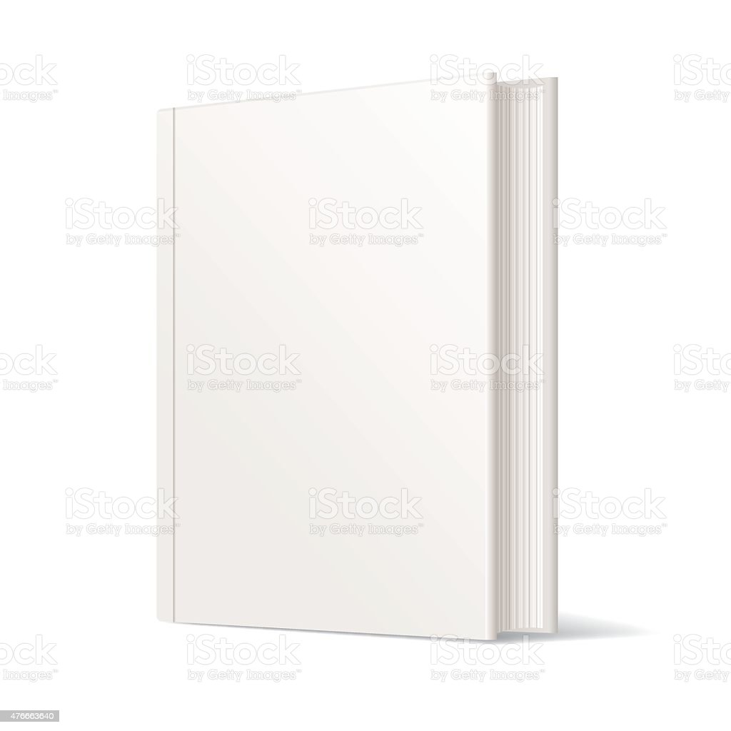 Blank White Book Cover - Vector vector art illustration