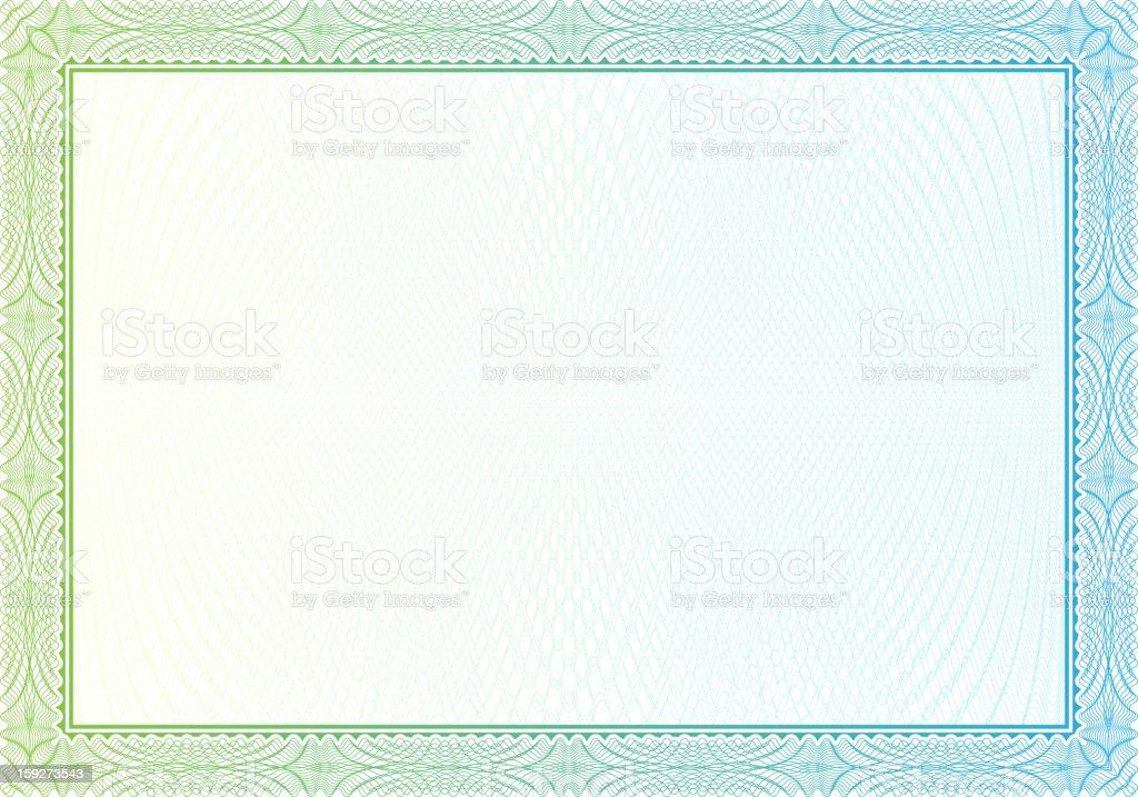 Certificado en blanco - ilustración de arte vectorial