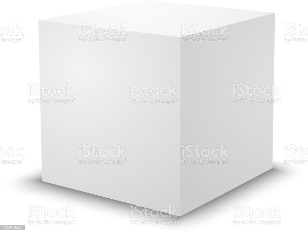 空白の白いキューブ3 d ボックステンプレート 3dのベクターアート素材