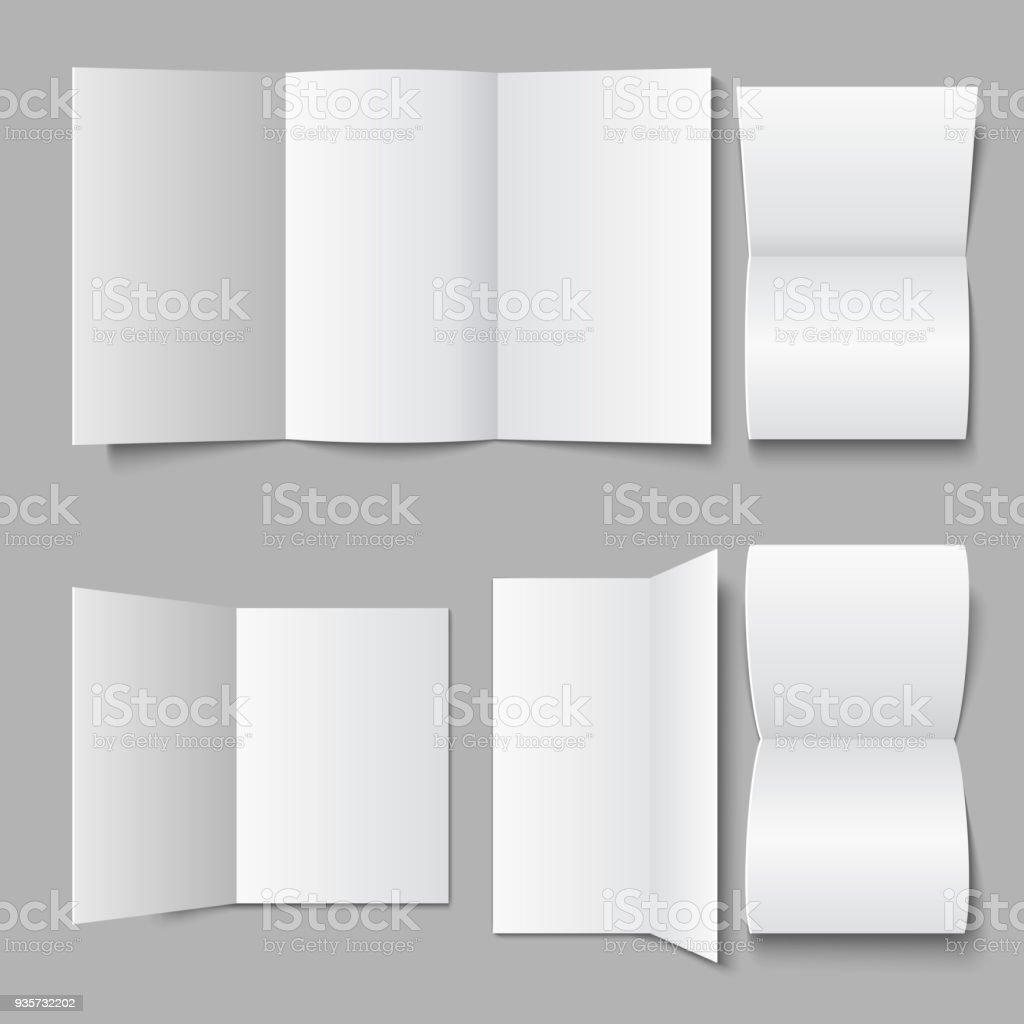 空白ドキュメント リーフレット3 d の広告パンフレットのパンフレットや