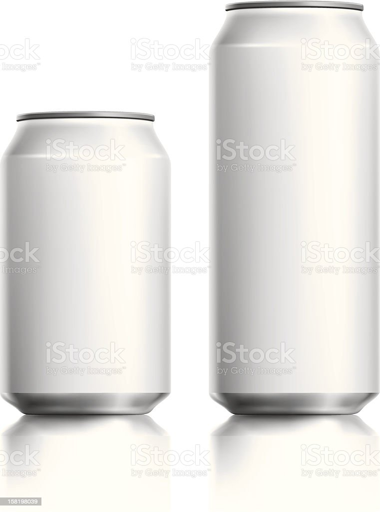 Blank white drinks can vector visual. vector art illustration