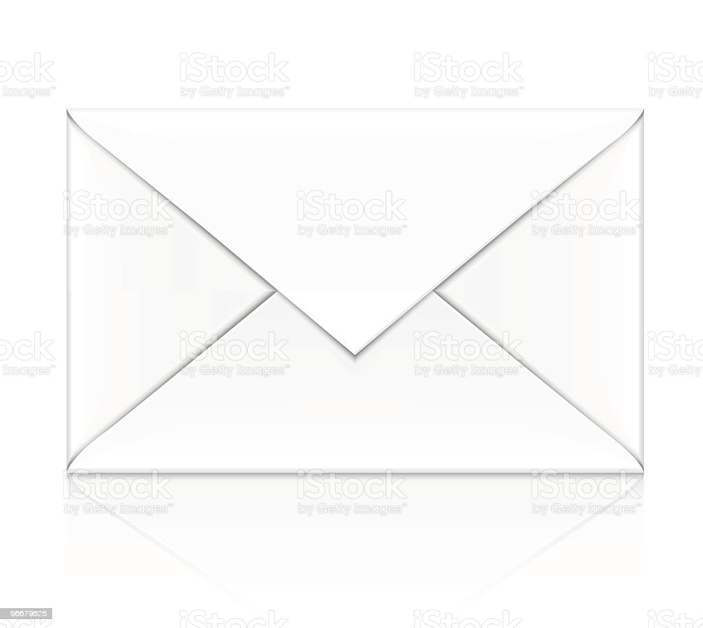 blank white envelope isolated royalty-free stock vector art