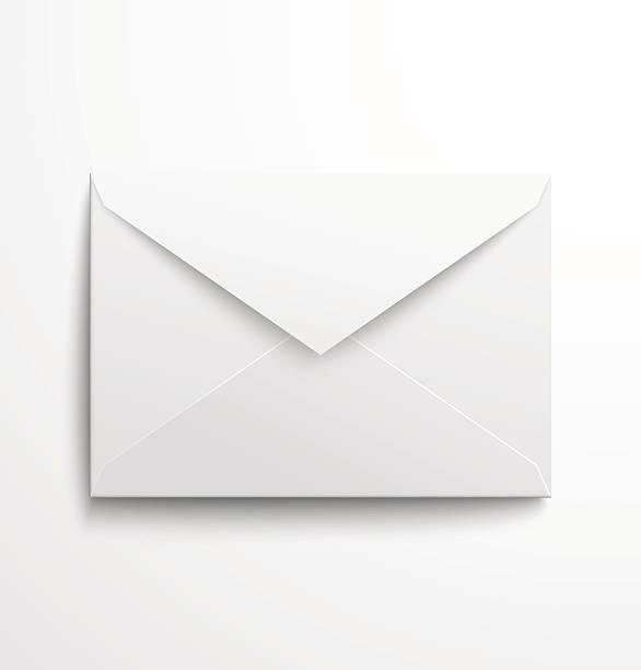 Blank white Umschlag mit Schatten – Vektorgrafik