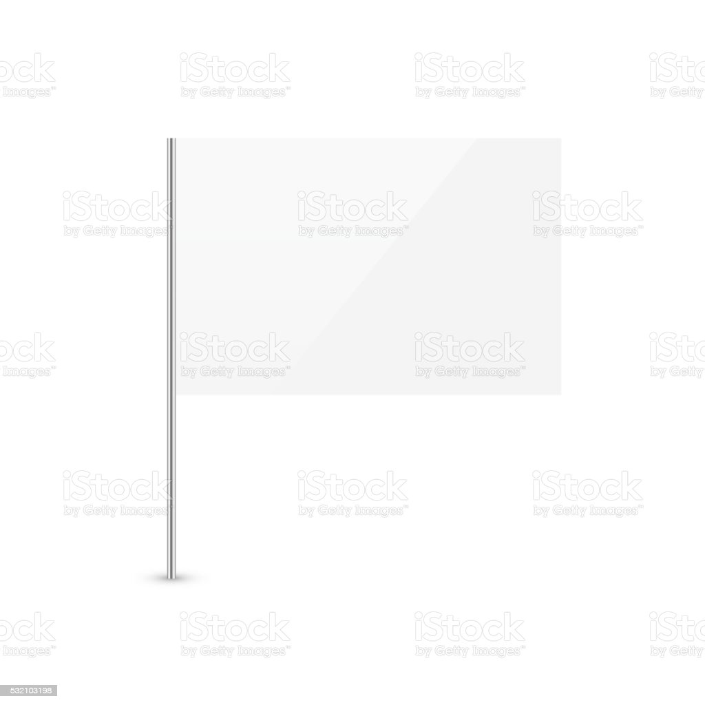 Blank White Flag vector art illustration