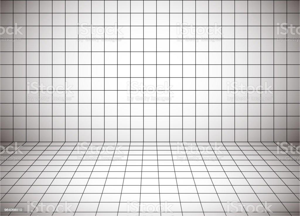 白い長い空白遠近グリッドと - ます目のロイヤリティフリーベクトルアート