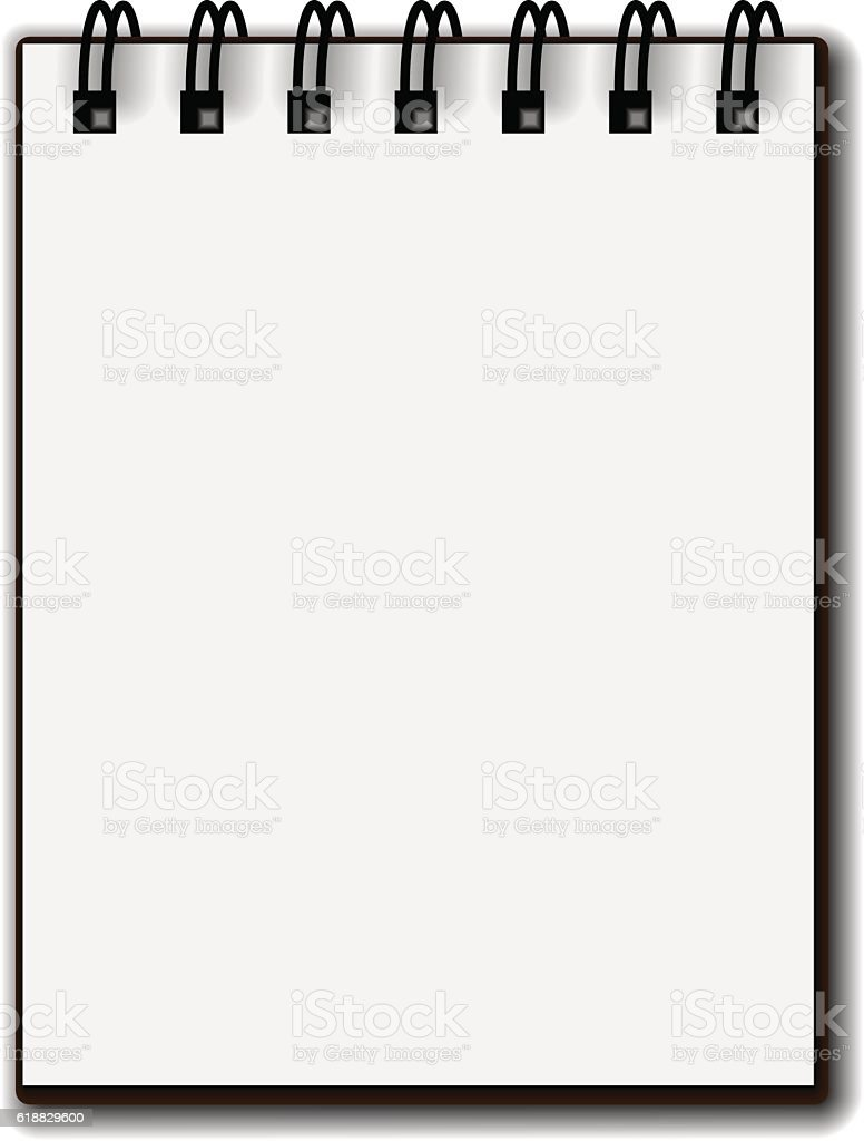 blank white paper spiral notebook stock vector art more images of rh istockphoto com notebook vector icon notebook vector mobile 2400