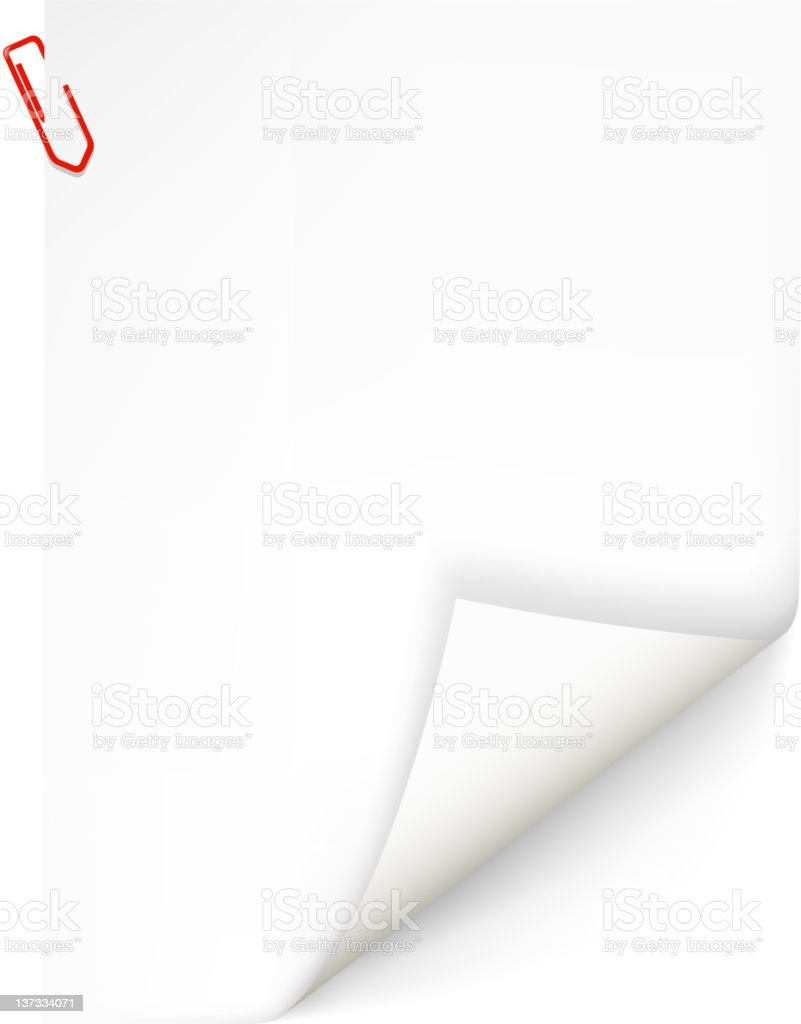 blank white paper royalty-free stock vector art