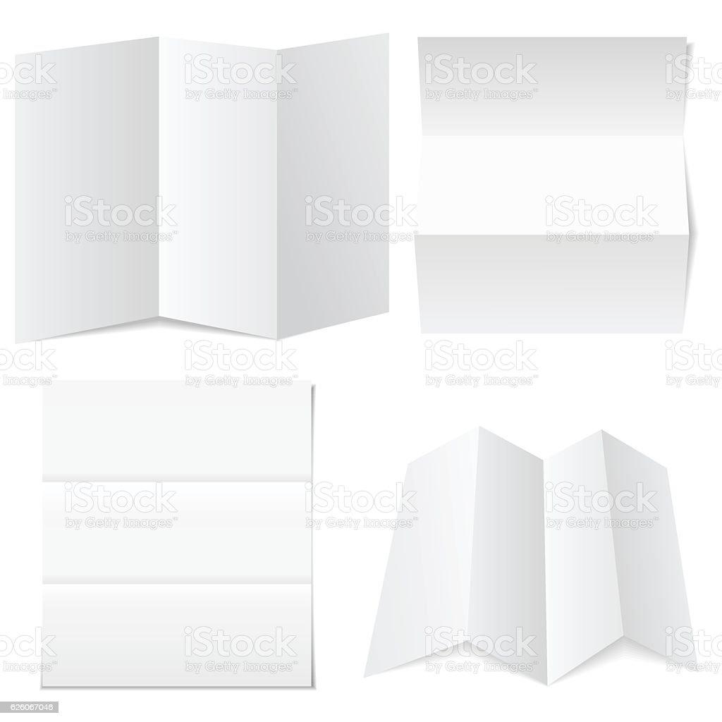 Blank white paper vector art illustration