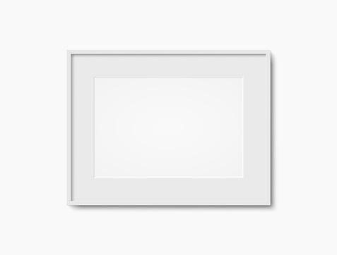 Blank white photo frame