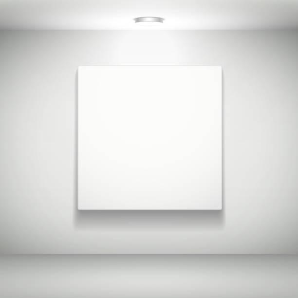 空白の白い壁にホワイトの写真 - 美術館点のイラスト素材/クリップアート素材/マンガ素材/アイコン素材