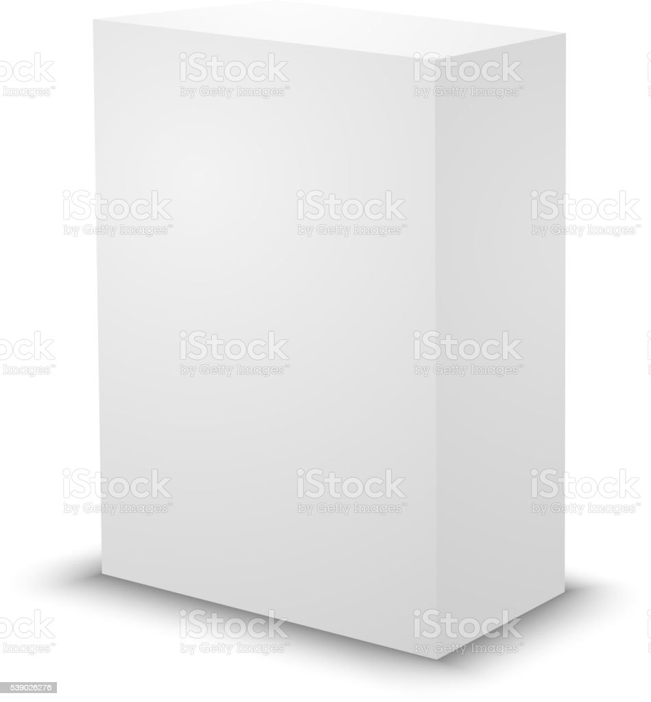 Blank white prism 3d box template stock vector art more images of blank white prism 3d box template royalty free blank white prism 3d box template maxwellsz