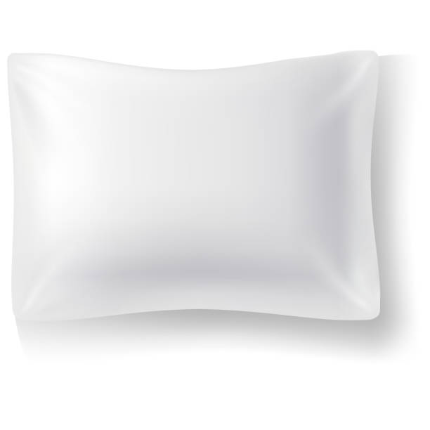 Blank white rectangular pillow. Cushion vector illustration. vector art illustration