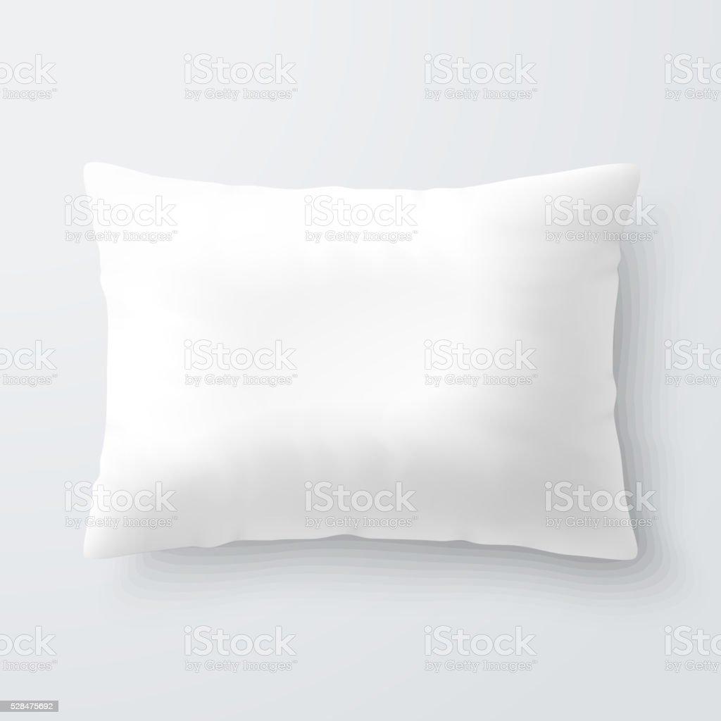 blank white rectangular pillow stock vector art more images of bed