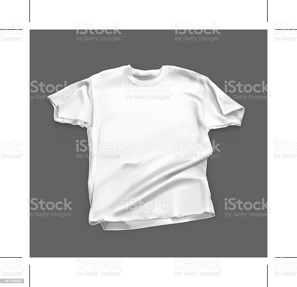 Blank white shirt, vector illustration vector art illustration