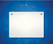 Blank white sign with textured background. EPS 10 file. Transparency effects used on highlight elements.