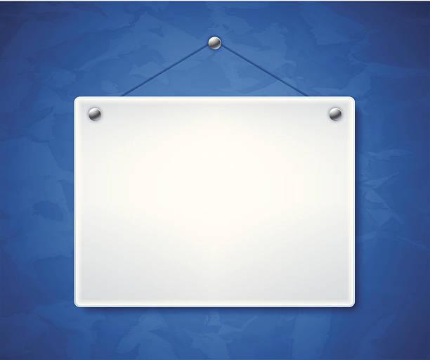 puste biały znak - transparent stock illustrations