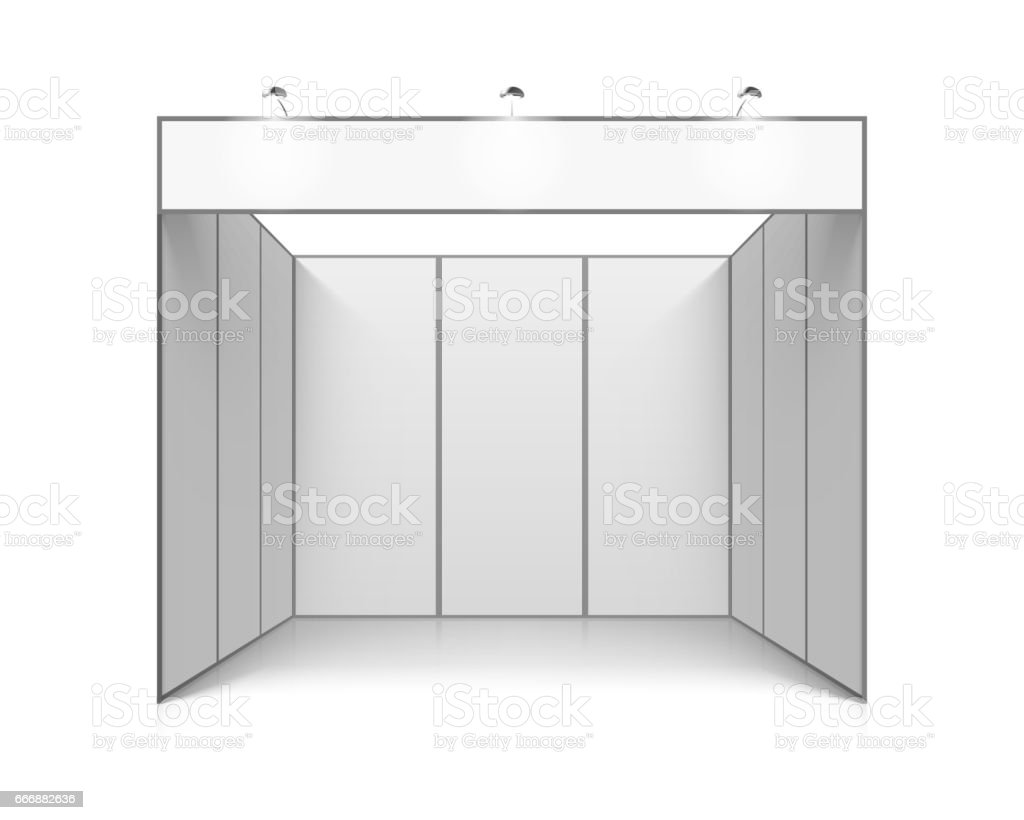 Trade Exhibition Stand Vector : Blank white trade exhibition stand stock vector art more images