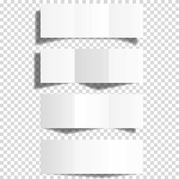 blank white trifold paper brochure mockup set, isolated. - składany stan stock illustrations
