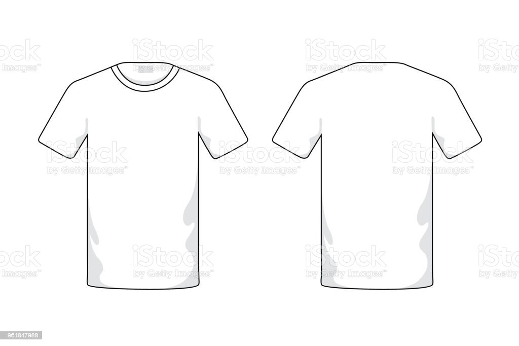 Blank white T-shirt template. royalty-free blank white tshirt template stock vector art & more images of advertisement