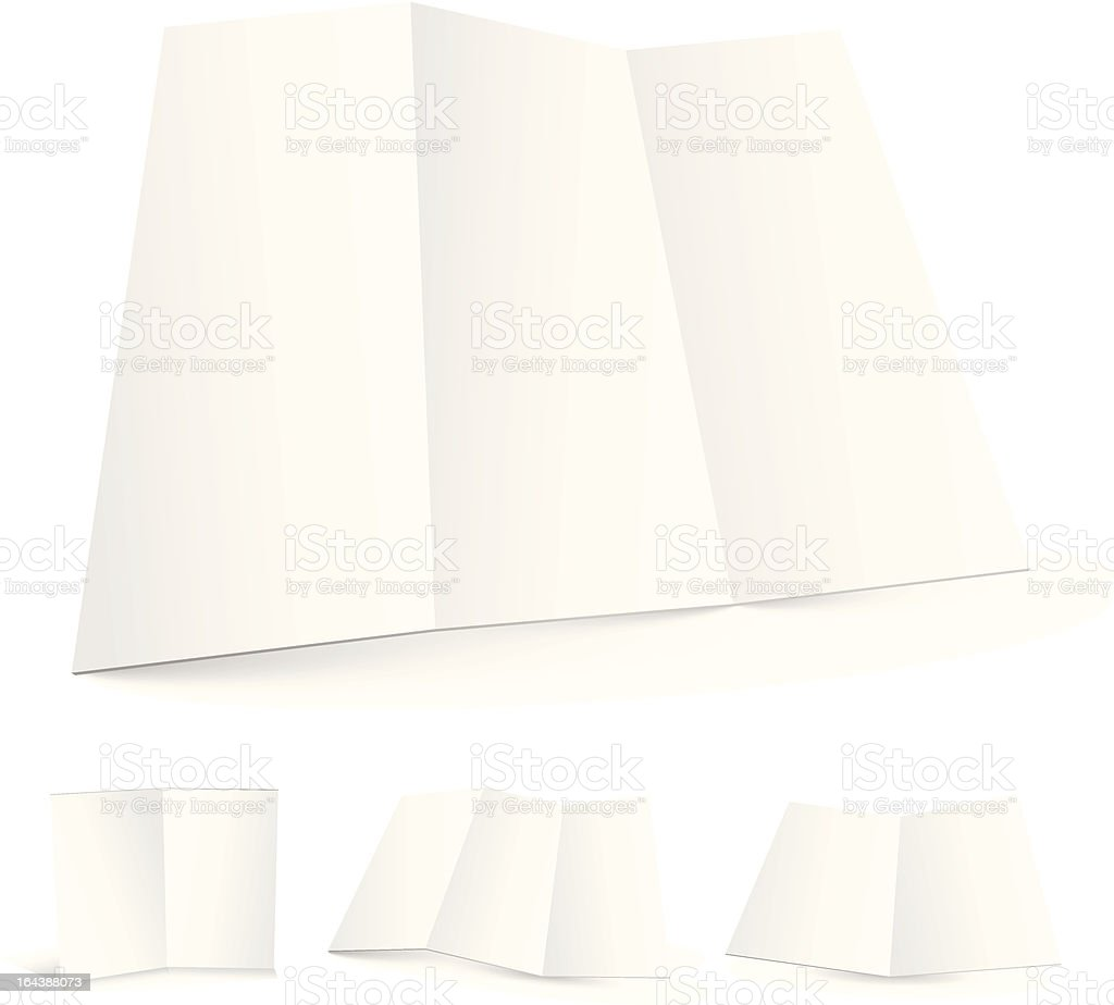 Blank white zigzag folded paper set royalty-free stock vector art