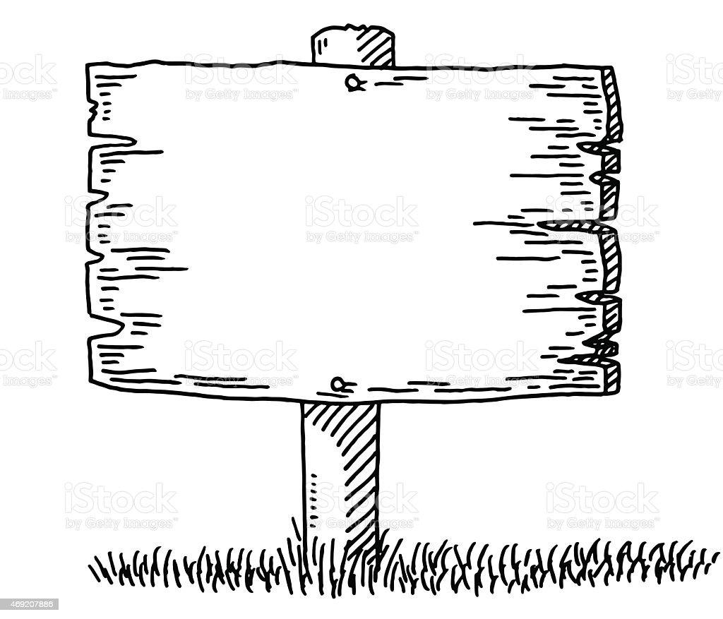 Panneau en bois blanc dessin cliparts vectoriels et plus d 39 images de 2015 469207886 istock - Planche a dessin en bois ...