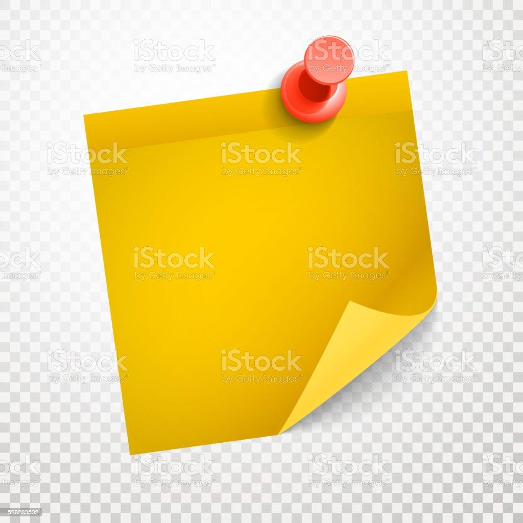 ブランク黄色のステッカー曲げコーナーに透明背景 のイラスト素材