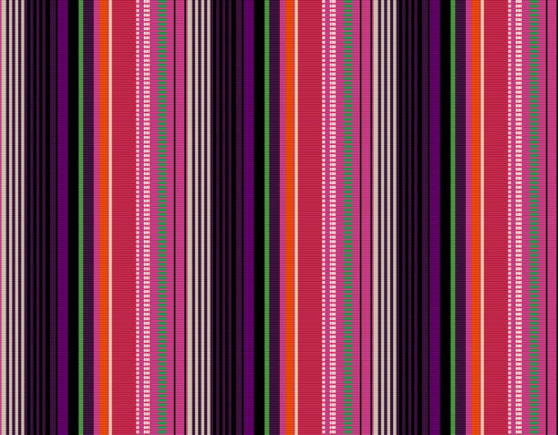 Blanket stripes seamless vector pattern. Background for Cinco de Mayo party decor or ethnic mexican fabric pattern with colorful stripes. Blanket stripes seamless vector pattern. Background for Cinco de Mayo party decor or ethnic mexican fabric pattern with colorful stripes. Serape design serape stock illustrations