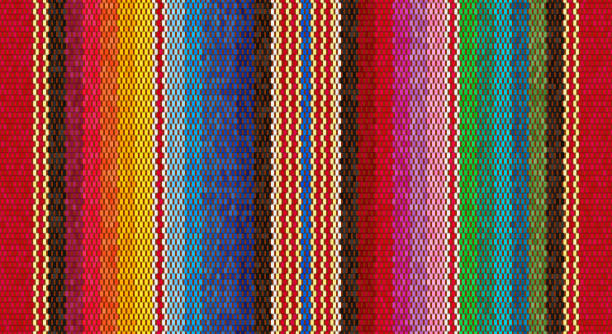 Blanket stripes seamless vector pattern. Background for Cinco de Mayo party decor or ethnic mexican fabric pattern with colorful stripes. Blanket stripes seamless vector pattern. Background for Cinco de Mayo party decor or ethnic mexican fabric pattern with colorful stripes. Serape design cinco de mayo stock illustrations