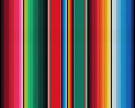 Blanket stripes seamless vector pattern. Serape gesign