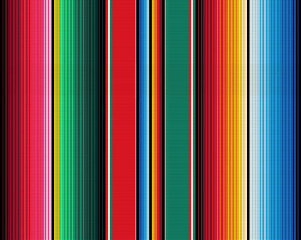 Blanket stripes seamless vector pattern. Serape gesign Blanket stripes seamless vector pattern. Background for Cinco de Mayo party decor or ethnic mexican fabric pattern with colorful stripes. Serape gesign mexico stock illustrations