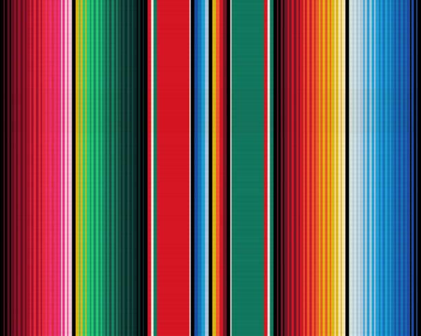 ilustraciones, imágenes clip art, dibujos animados e iconos de stock de rayas de manta sin costuras vector patrón. gesign de sarape - méxico