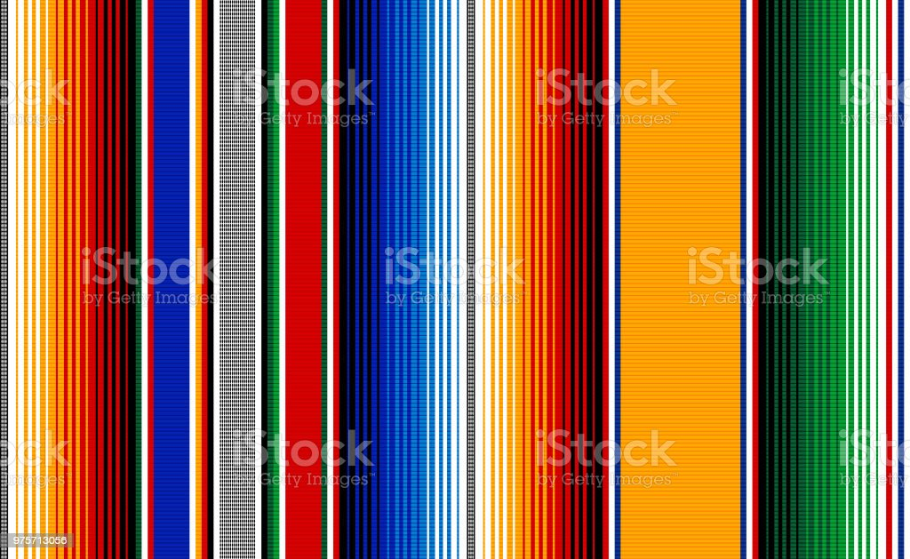 Blanket stripes seamless vector pattern. Serape gesign vector art illustration