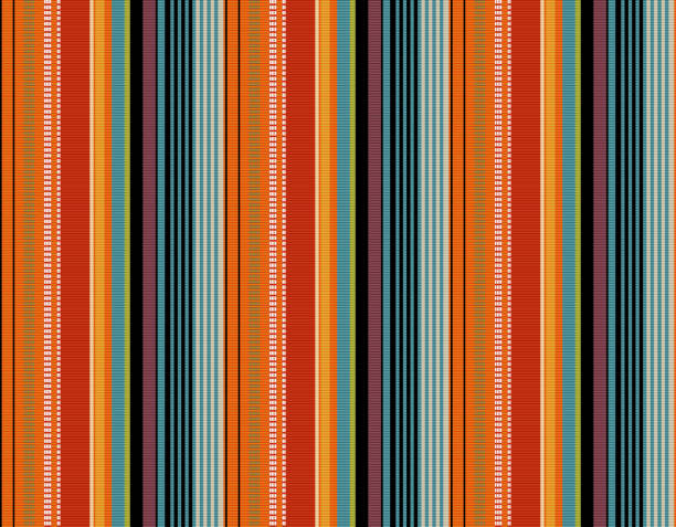 Blanket stripes seamless vector pattern. Serape gesign Blanket stripes seamless vector pattern. Background for Cinco de Mayo party decor or ethnic mexican fabric pattern with colorful stripes. Serape gesign serape stock illustrations