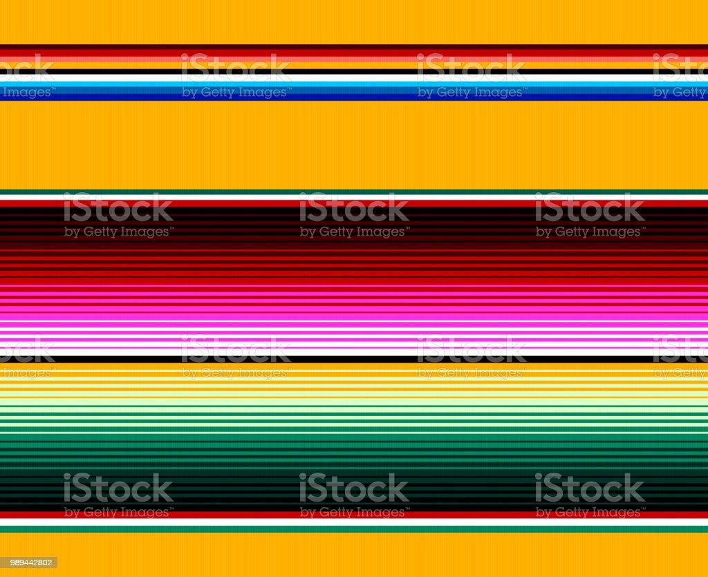 Blanket stripes seamless vector pattern. Serape gesign vector art illustration