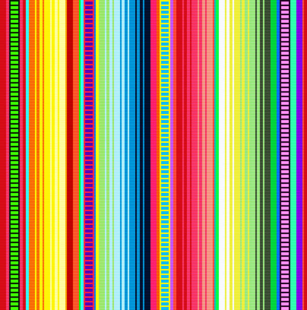 Blanket stripes vector pattern. Background for Cinco de Mayo party decor or ethnic mexican fabric pattern with colorful stripes. Blanket stripes vector pattern. Background for Cinco de Mayo party decor or ethnic mexican fabric pattern with colorful stripes. Serape design with trendy colors. serape stock illustrations