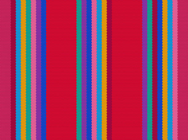 Blanket stripes vector pattern. Background for Cinco de Mayo party decor Blanket stripes vector pattern. Background for Cinco de Mayo party decor or ethnic mexican fabric pattern with colorful stripes. Serape design serape stock illustrations